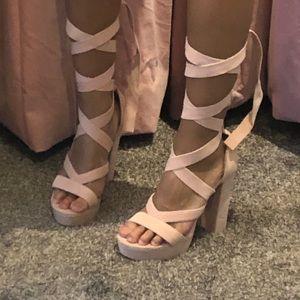 Ballet strap heels